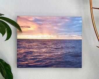 Double Wonder: Deep ocean sunset