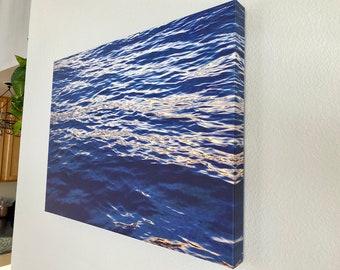 Technicolor Dreamcoat: Deep ocean sunset wave reflection