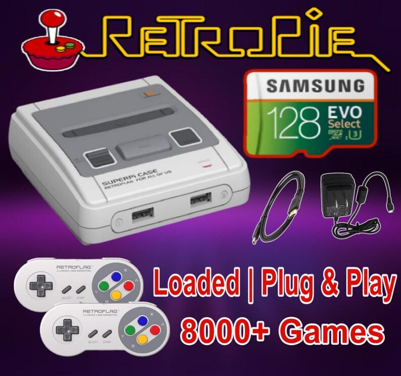 RetroPie SuperPi-J Game console 128GB 8K+Titles - Plug /& Play RPi3 B+