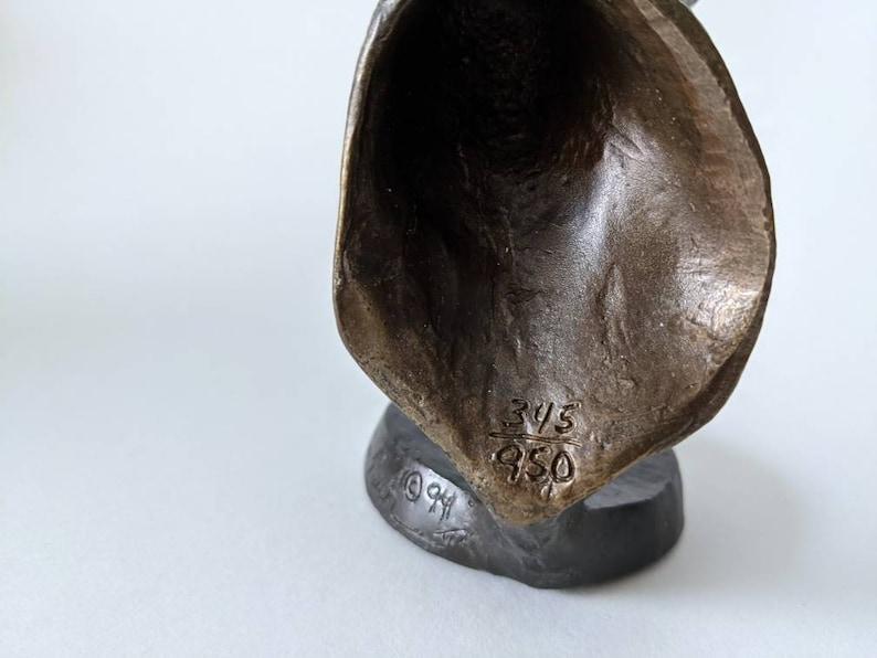 Deer Bronze Sculpture Tim Rush for Mark Hopkins  Scent of Danger Bronze Buck  sportsman sculpture
