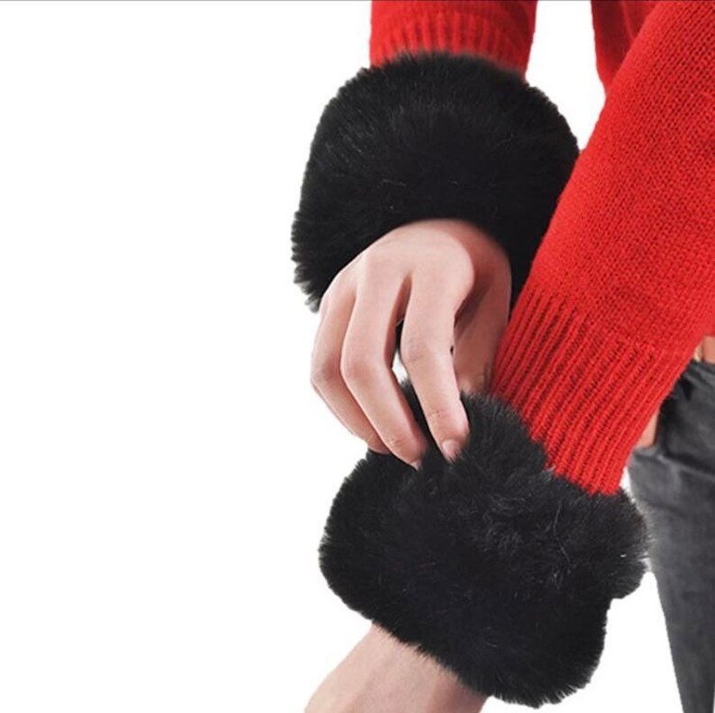 Luxury Accessories Faux Fur Cuffs Luxury Long Sleeve Accessories Beautiful Fur Cuffs