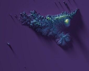 Stampa Cartina Sicilia.Stampa Mappa Sicilia Etsy