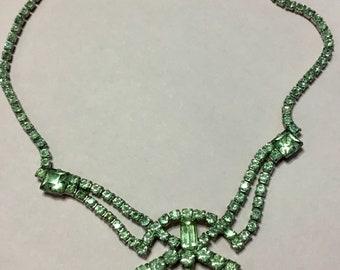 Hollywood Glam 1940s Rhinestone Necklace