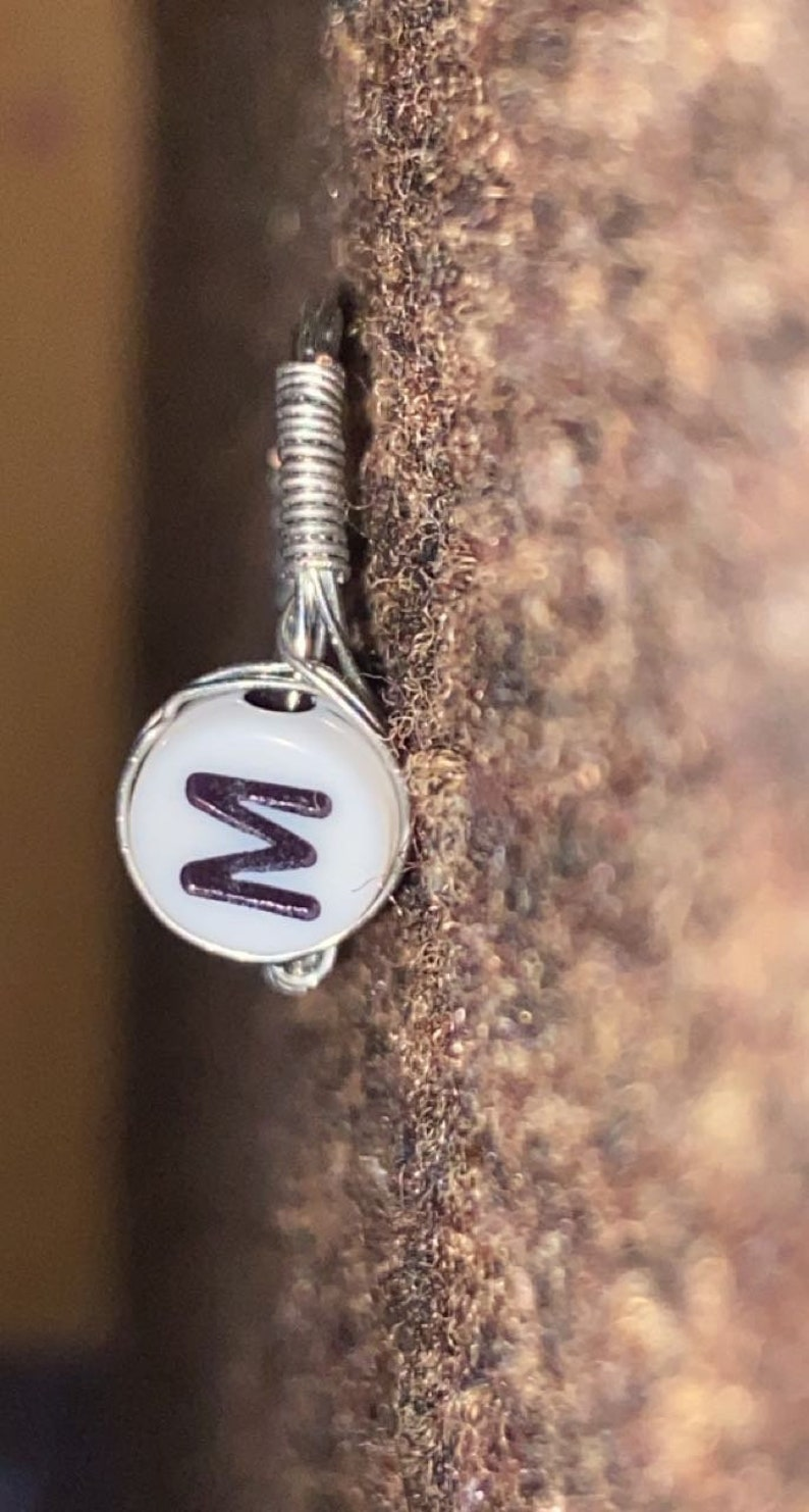 Alphabet letter wired ring please check description box for sizes