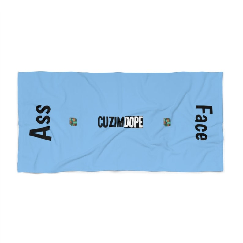 AssFace Towel by Cuzimdope Blue image 0