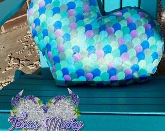 Oversized Heart Mermaids Tale Minky Pillow