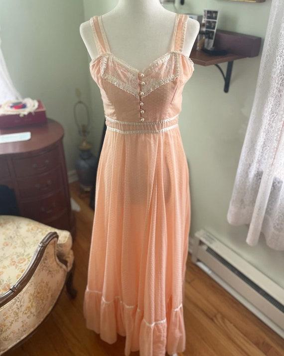 Peachy pink gunne sax sun dress - image 2