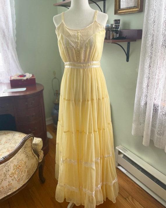 Yellow Gunne Sax Dress - image 3