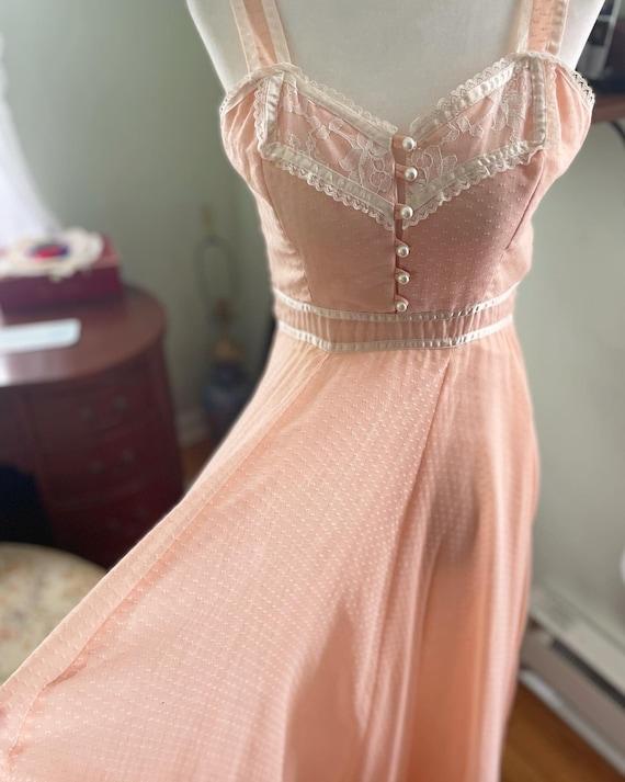 Peachy pink gunne sax sun dress - image 3