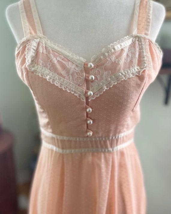 Peachy pink gunne sax sun dress - image 1