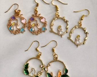 Boucles d/'oreilles pendantes \u00e0 clous Wonderland