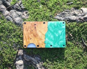 Unisex Resin /& Wooden Wallet RFID Protection Slim Card Wallet Travel Wallet Lifetime Guarantee Minimalistic Gift Ideas
