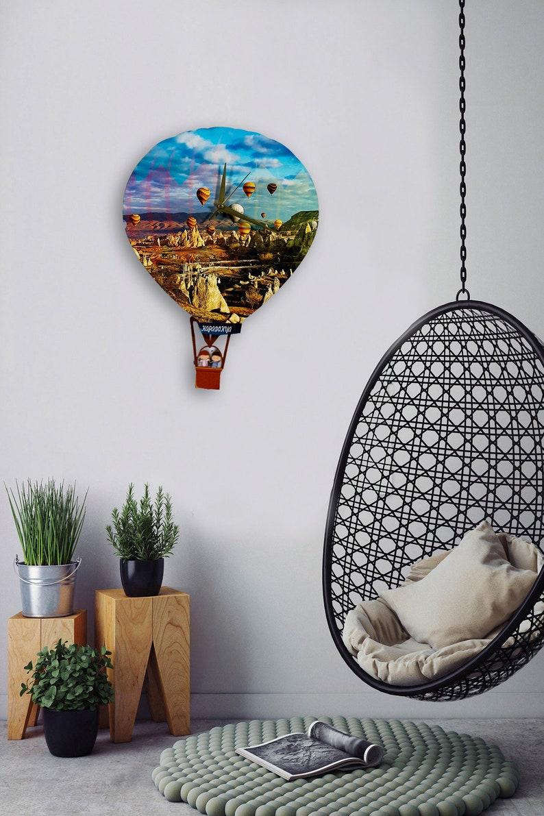 Home Design Hot-Air Balloon Pendulum Clock Wall Clock Home Decor