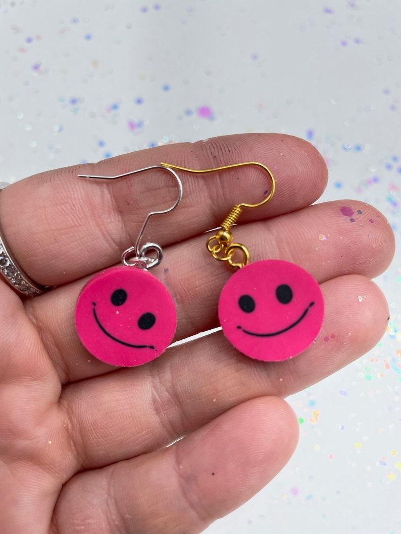Mini Smiley Face Earrings!