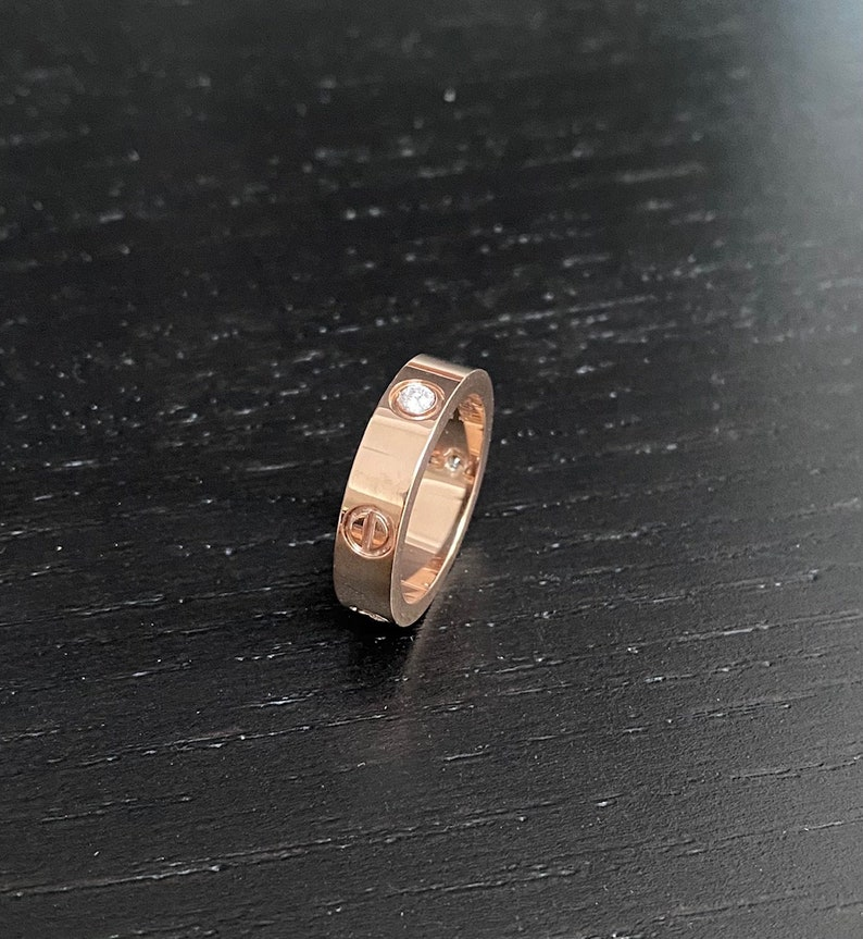 Titanium Non Tarnish with 6 layers of 18ct Plating Love Ring Deluxe Quality
