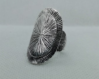 Silver  Wide Ring Silver Ring Tribal Spiral Ring Modern Statement Ring Ethnic Ring Tribal Rings,Boho Silver Ring Urban Gift for her,