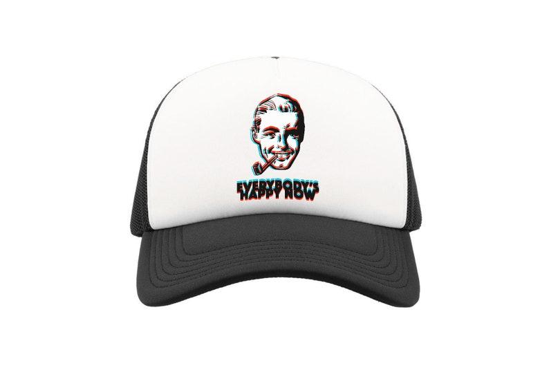 Aldous Huxley Brave New World Everybody Is Happy Now Black Trucker Cap Style Hat