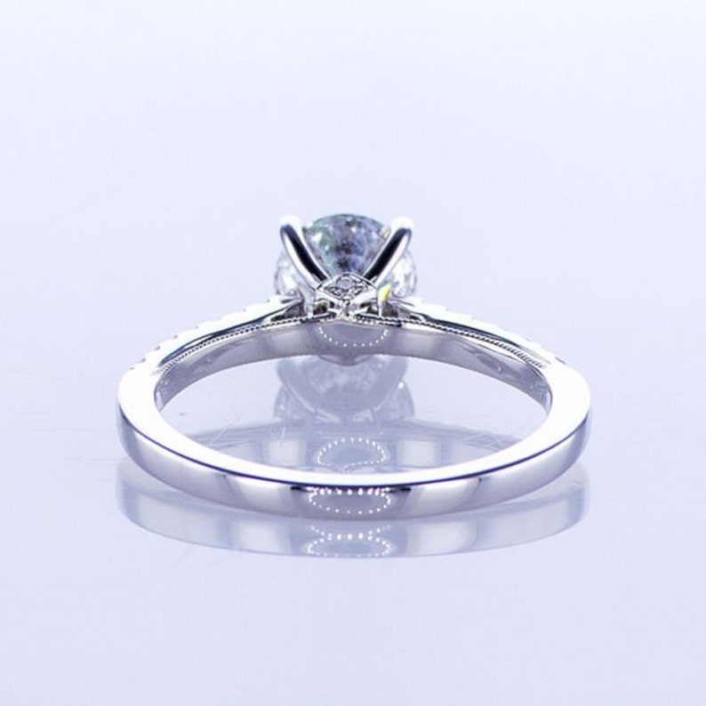 Handmade Ring For Men And Woman Certified Moissanite Ring 1.50 Carat 925 Sterling Silver