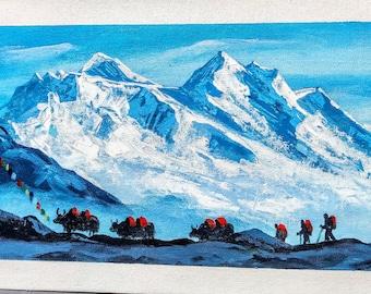 Himalayas Painting   Etsy