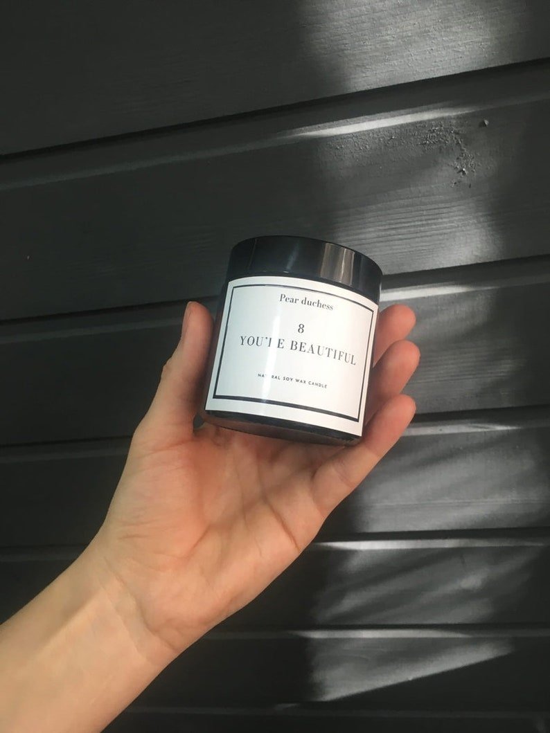 Rusian soy candle handmade mood girl present box 100/% vegan  gift Motivational Scented CANDLE You re beautiful