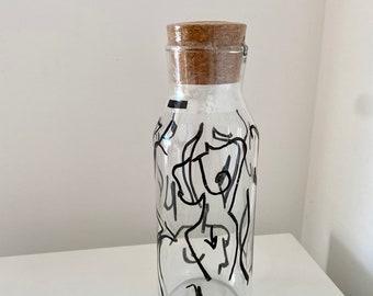 NAKED Glass Carafe Bottle