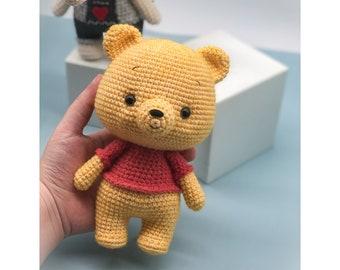 Tranguyenami- Crochet Pooh Pattern(Winnie the Pooh)- Crochet Bear- Stuffed Toy- Crochet amigurumi pattern- Instand download -English Pattern