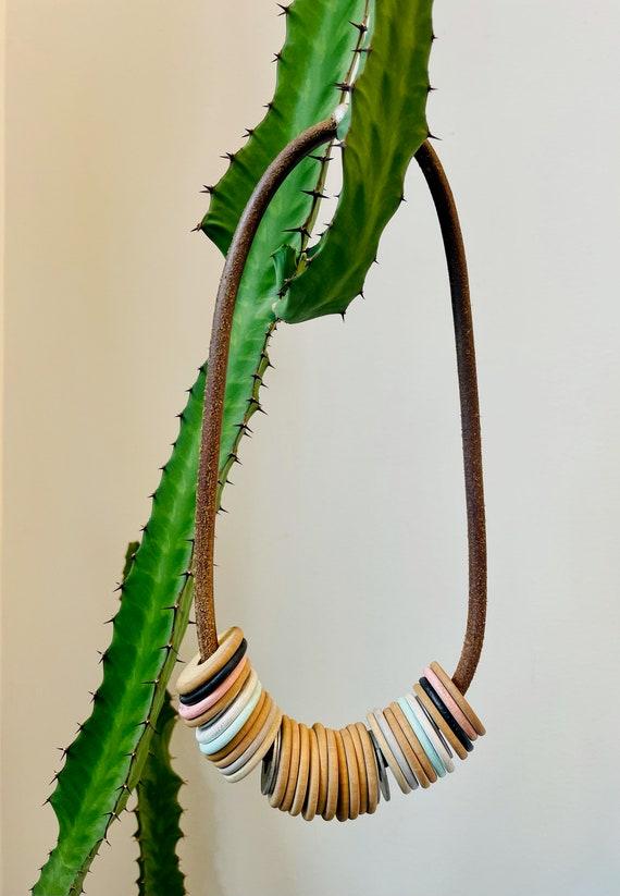 Dusty pink / pastel statement necklace