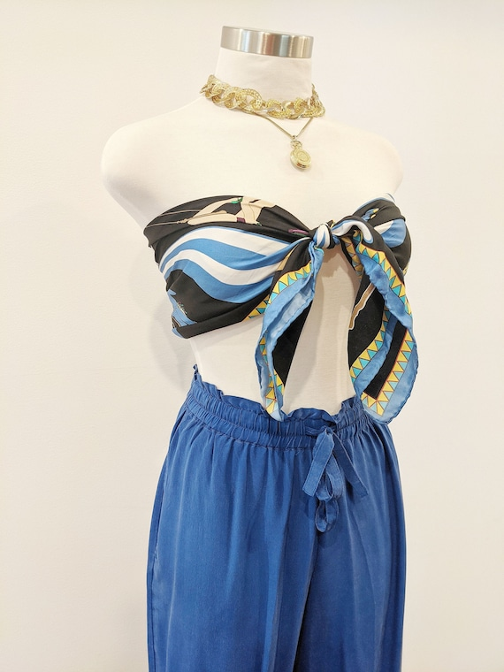 Vintage Lulu Guinness Silk Circus Scarf // Design… - image 1