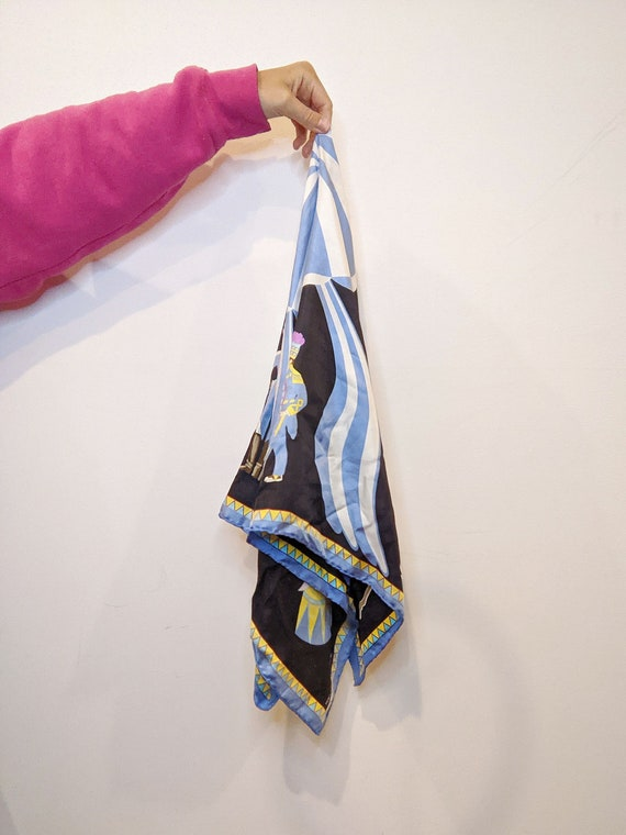 Vintage Lulu Guinness Silk Circus Scarf // Design… - image 5