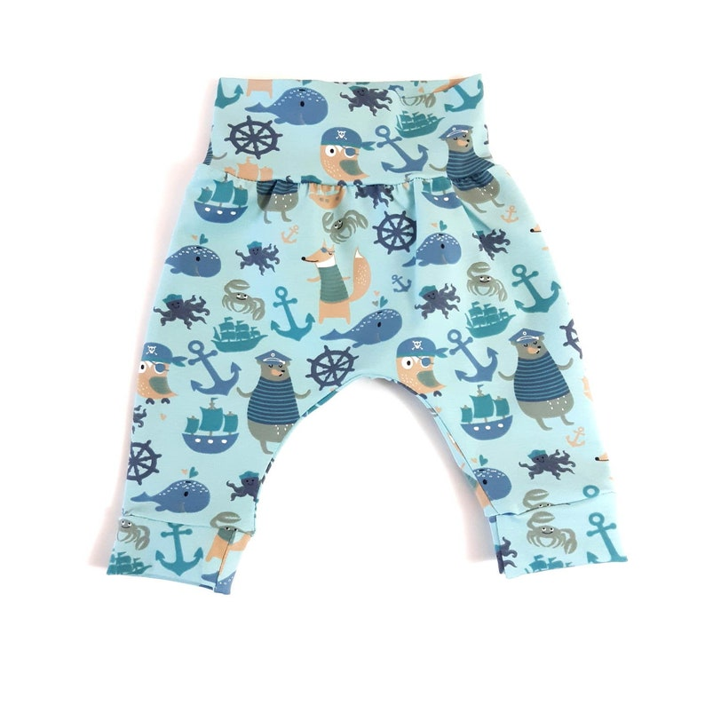 Marine life pants handmade babychildren clothing