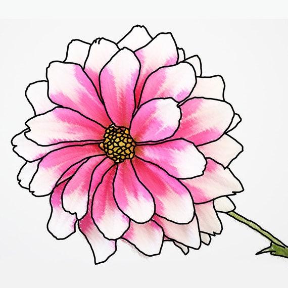 Pleasant Little Flower Buddha Wall Art Pink Flower Poster Interesting Art Digital Download Printable