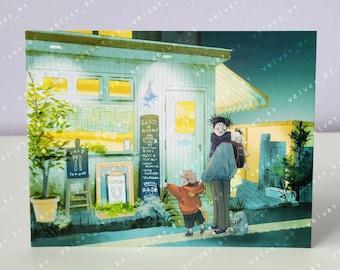 JUJUTSU KAISEN Choso and Yuuji + Brothers - Anime & Manga Art Illustration Postcard Mini Print