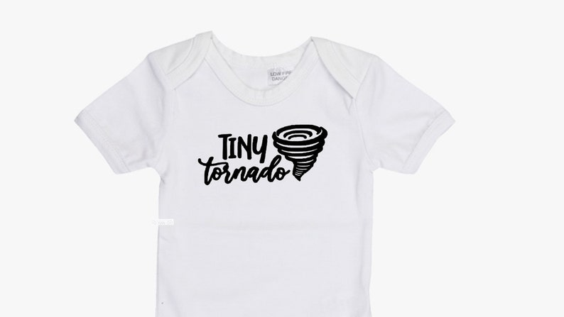 Onesie Bodysuits Baby Bodysuit or Baby T-Shirt Cute Baby Clothes Baby Shower Gift Baby Boy Baby Girl Tiny Tornado