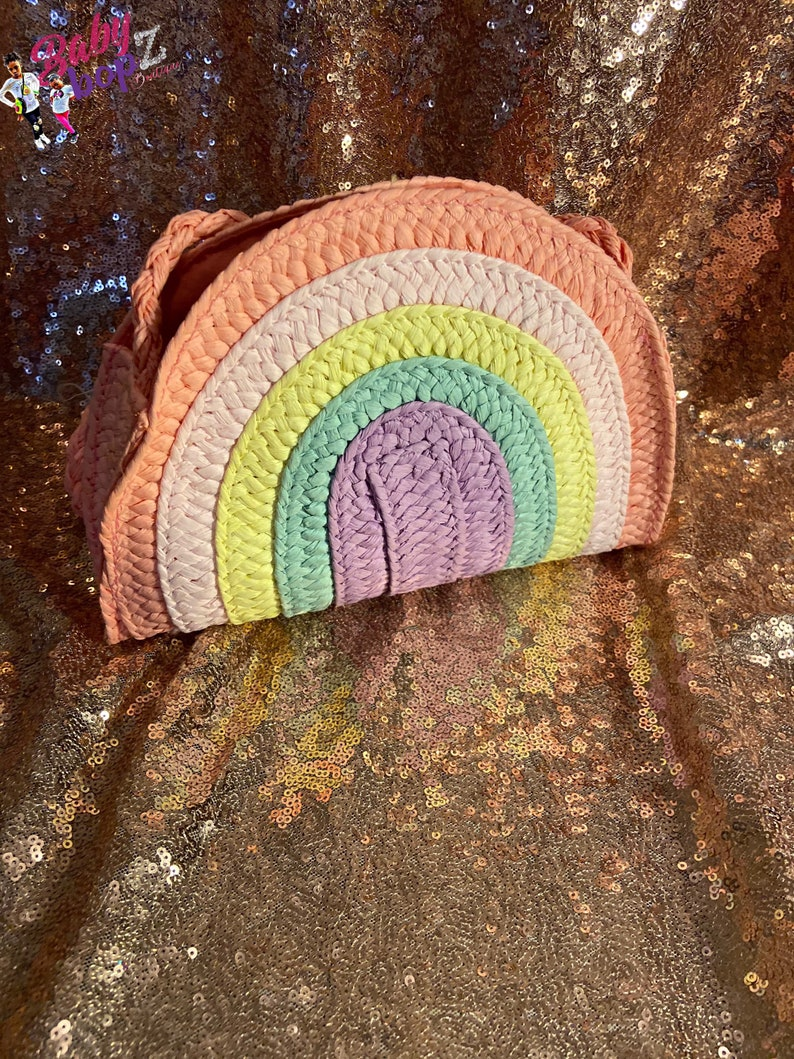 Rainbow crossbody purse