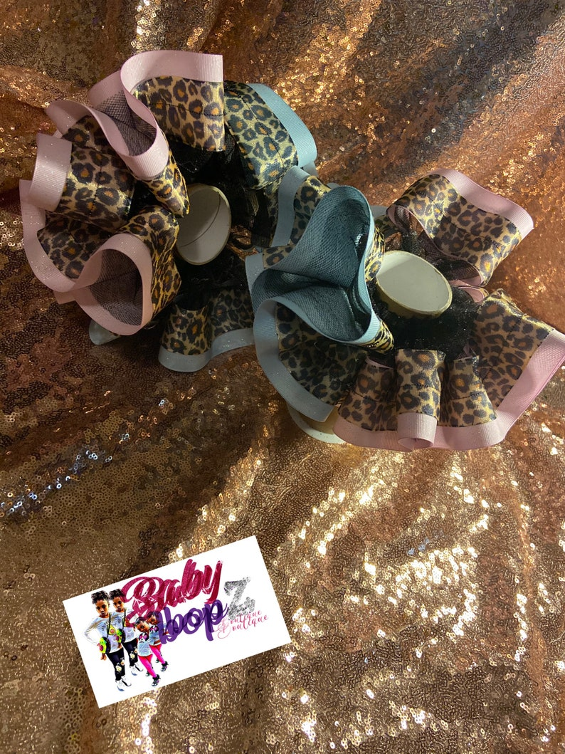 Ruffle anklets  tutu  pageant socks Cheetah