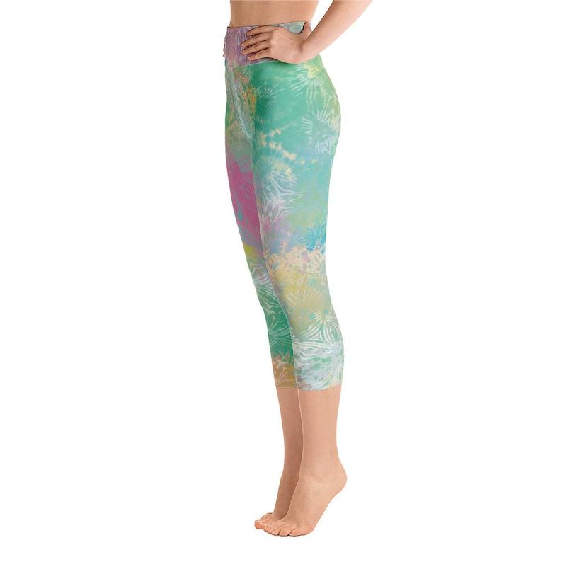 Yoga Leggings Workout Leggings Fitness Leggings Sports Leggings Capri Leggings Tie Dye Leggings Gym Leggings