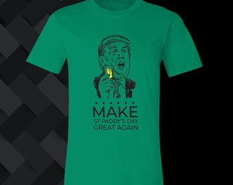 St Patrick/'s Day Shirt,Trump Supporter Tees,Make Pattys Day Great Again Outfits,Gift for Irish Women,Gift Ideas for Lucky Men,Shamrock Tees