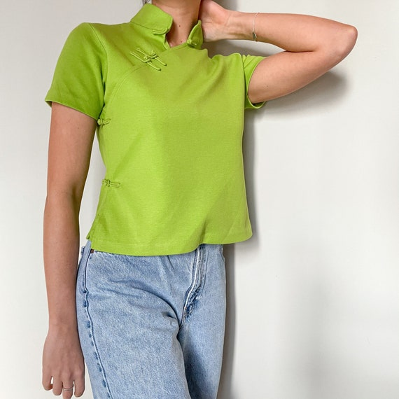 Vintage Mandarin Collar Shirt