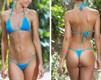 Jossy Rhinestone Chain Thong Underwear Lingerie