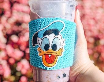 Disney Mickey cup cozy gift for her Coffee Cozy Crochet Cup Cozy Disney cup cozy Valentine\u2019s gift idea Disney gift idea