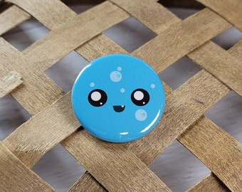 Bubbles the Slime Face pin-back button - (1.50 In.) / Pinback Button / Badges Pins