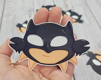 "Batcrab! Sticker 4"" 3"" Glossy Vinyl, cute anime chibi, sea creature"