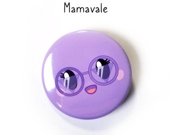 Mamavale pin-back button - (1.50 In.) / Pinback Button / Badges Pins
