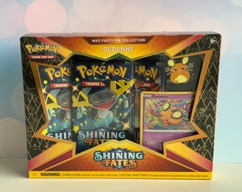 Pokemon Sword & Shield 4.5 Shining Fates Mad Party Pin Collection ...