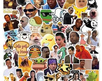 156 Pc Meme Stickers - Internet funny DIY stickers for hydroflask laptop luggage... Waterproof 100% Vinyl