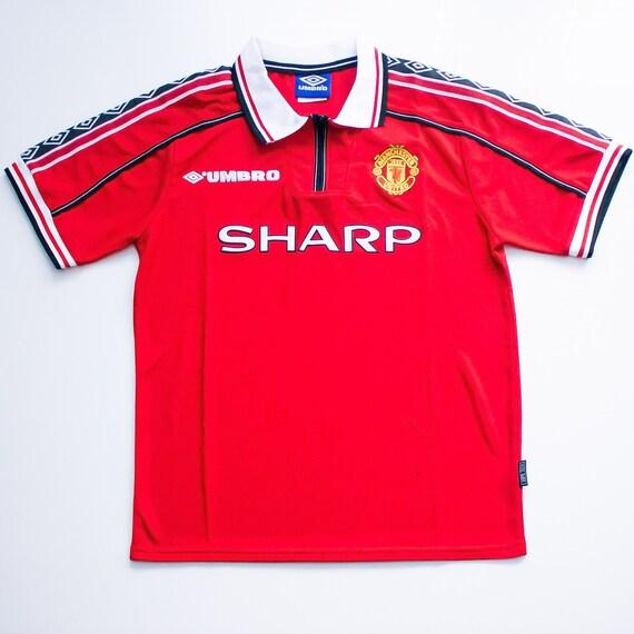 Manchester United Home Shirt (1996-98) Retro Footb