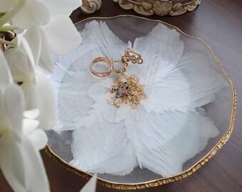 Resin geode jewelry dish - Ring dish - Serving bowl - Trinket dish