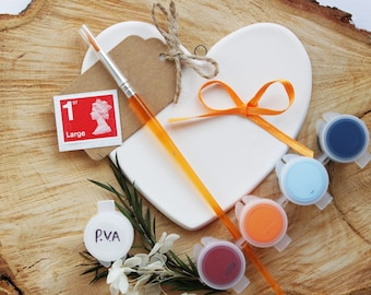 Ceramic Heart Painting Kit