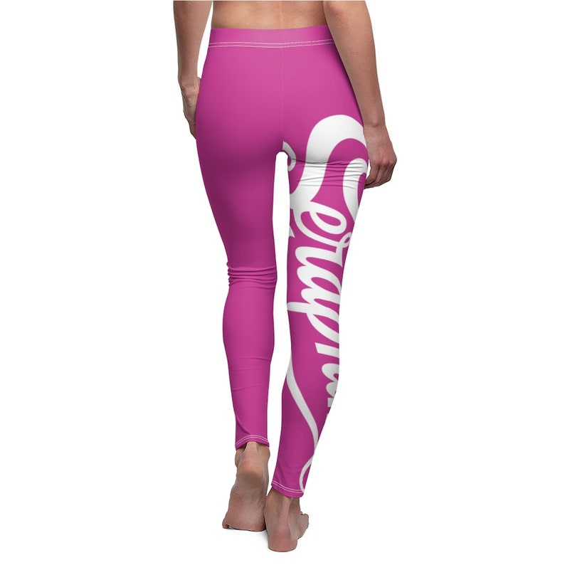 Seraphimi Surfer Leggings Aerobics Tights White Logo Purple Berry Women/'s Casual Leggings