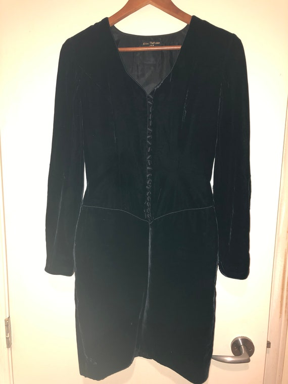 Ritva Westenius black velvet dress